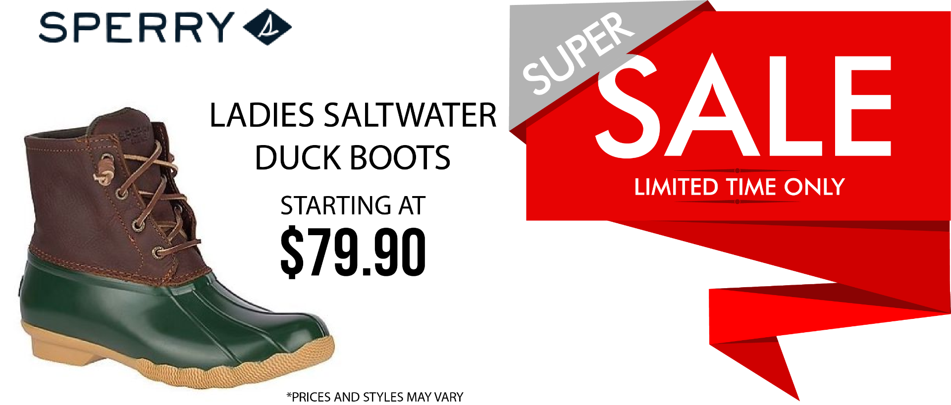 LEBOS CYBER MONDAY SPERRY DUCK BOOTS