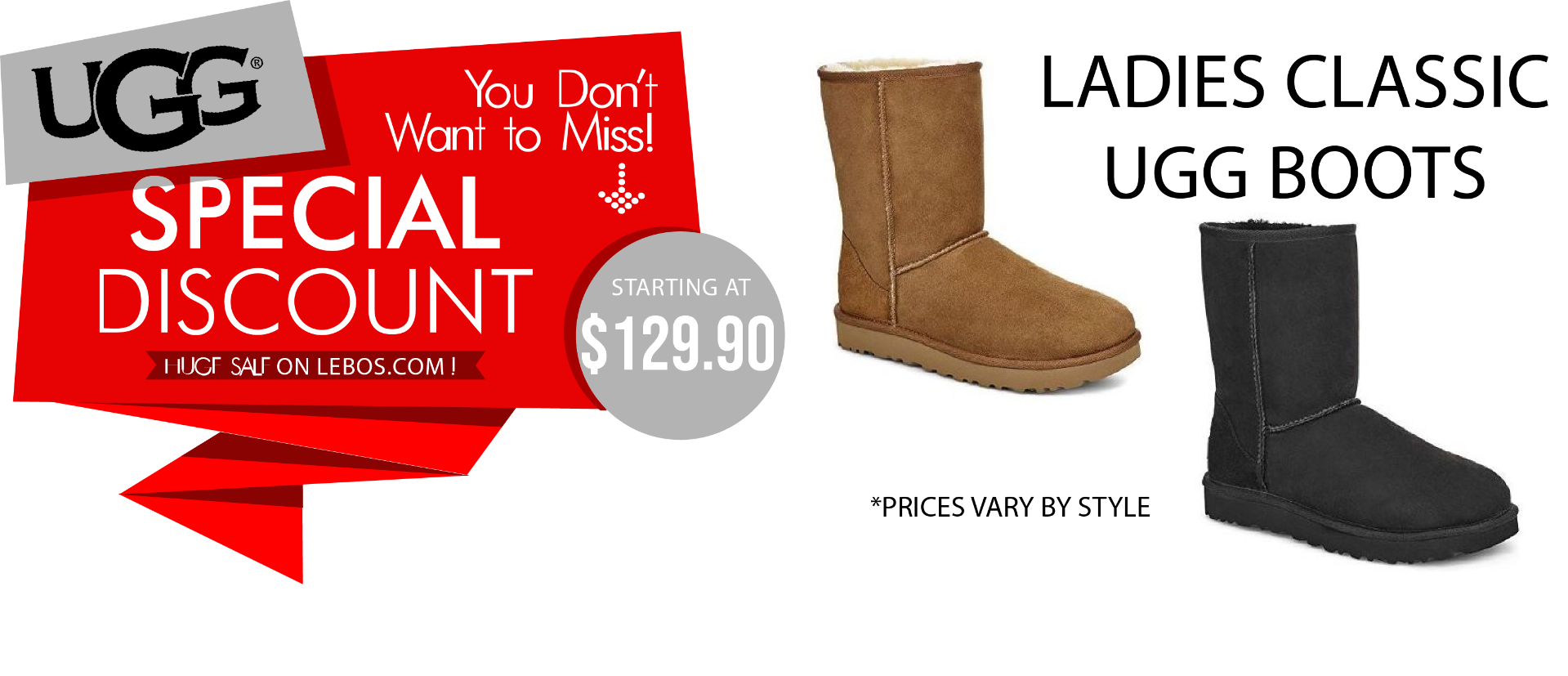 LEBOS CYBER MONDAY UGGS STARTING AT $129.90 ONE DAY ONLY SALE