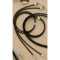M&F Brown Braided Leather Stampede String 02966-02