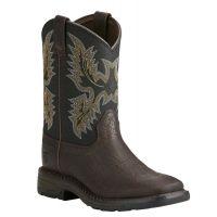 Ariat Bruin Brown WorkHog Childrens Western Boots 10021452