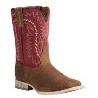 Ariat Brown/Red Relentless Elite Kid Western Boots 10021597