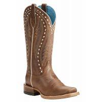 Ariat Ranch Tan Callahan 13 Inch Shaft Womens Western Boots 10021667