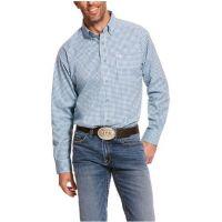 Ariat Men's Sky Blue Pro Series Adamsen Stretch Classic Fit Shirt 10028890