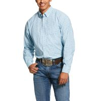 Ariat September Sky Blue Mens Pro Series Lee Stretch Classic Fit Shirt 10030730