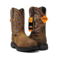 Ariat Brown Workhog Waterproof H20 XT Carbon Toe Mens Work Boots 10031483