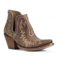 Ariat Distressed Brown Dixon Womens Western Ankle Booties 10031487