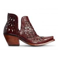 Ariat Dixon Red Snake Womens Western Ankle Booties 10031504