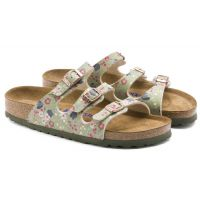 Birkenstock Meadow Flowers Khaki Florida Soft Footbed Womens Slide On Sandals R1012780
