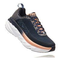Hoka Mood Indigo/Dusty Pink Bondi 6 Womens Comfort Running Sneaker 1019270