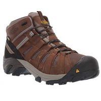 KEEN Utility Men's Cascade Brown/Blue Steel Cody Mid Waterproof (Steel Toe) Eh-Rated Waterproof Work Industrial Boot 1021357
