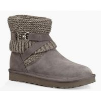 UGG Women's Charcoal Purl Strap Classic Boot 1098080
