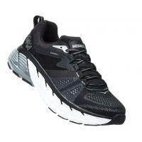 Hoka Black/Wrought Iron Gaviota 2 Cushioned Mens Athletic Running Shoes 1099629