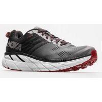 Hoka One Gull/Obsidian Men's Clifton 6 Comfort Athletic Shoe 1102872