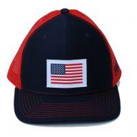 Richardson Custom Woven American Flag Patch Navy/Red OSFM Ballcap 112-NRE-USA