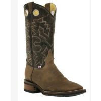 RockinLeather Men's Square Toe Dark Brown Western Boot 1131