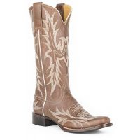 Karman Roper Taupe/Gray Womens Square Toe Western Boots 1202186011086GY