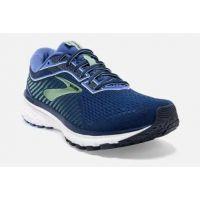 Brooks Peacost, Blue and Aqua Womens Ghost 12 Comfort Running Shoe 120305-413