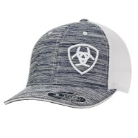 M & F Ariat Heather Grey and White Snapback Ballcap 1504905