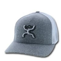 Hooey Grey and White Mens Caoch Cap 1662GY