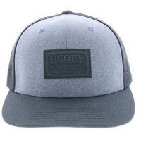 Hooey Grey Men's Doc Woven Square Patch Trucker Cap 1803T