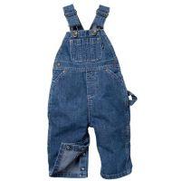 223  Indigo Denim Premium Washed Key Industries Infants Bib Overalls