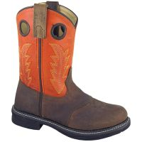 Smoky Mountain Buffalo Brown/Burnt Orange Childrens Boot 2466C