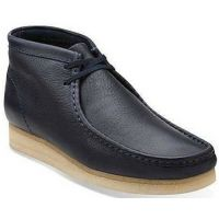 Clarks Wallabee Navy Leather Mens Casual 26103603