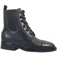 Leather Lace-Up With Elastic Gores Riding Heel Kids Paddock Boots