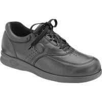 Softspot Grand Prix Black Leather Lace-Up Comfort Mens Shoes 350001