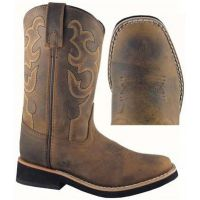 Smoky Mountain Pueblo Square Toe Horse Leather Kids Western 3520C