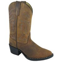 Smoky Mountain Dakota J Toe  Brown  Distressed  Kids Western 3530C