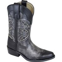 Smoky Mountain Preston Ditressed Black Childrens Boot 3555C