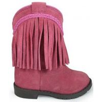 Smoky Mountain Hopalong Zipper Pink Suede Kids Western 3574T