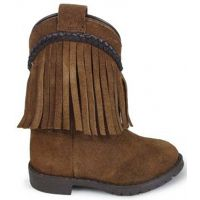 Smoky Mountain Hopalong Brown Suede Inside Zipper Kids Western 3575T