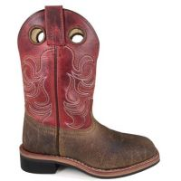 Smoky Mountain Boots Kids Brown/Burnt Apple Jesse Square Toe Boot 3918C