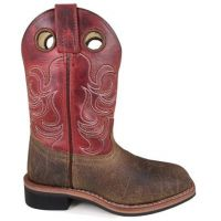 Smoky Mountain Boots Kids Brown/Burnt Apple Jesse Square Toe Boot 3918Y