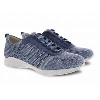 Dansko Denim Adrianne Washed Knit Comfort Casual Lace-Up Sneaker 4455-721872