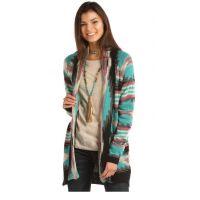 Panhandle Slim Rock & Roll Cowgirl Colorful Aztec Geometric Cardigan 46-2897