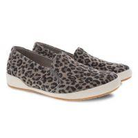 Dansko Odina Leopard Suede Womens Sneaker Shoes 4712-560300