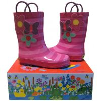 Smoky Mountain Blossom Cutie  Pink Kids Waterproof Rain Boot 490659