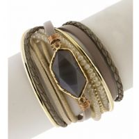 Saachi by In Things Taupe Endless Dream Bracelet 614692