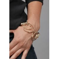 Saachi by In Things Gold Hand Hewn Bracelet 617996