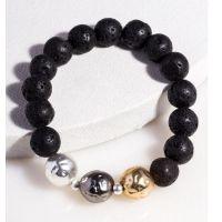 Saachi by In Things Black Lava Bracelet 618071