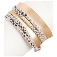 Saachi by In Things Gold Wild Swish Bracelet 618212