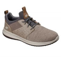 Skechers Taupe Delson Camben Mens Comfort Shoes 65474