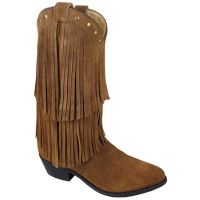 6566 WISTERIA Brown Leather Double Fringe Smoky Mountain Womens Boots