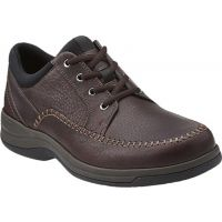 Clarks Portland 2 Tie Brown Leather Mens Casual 66038