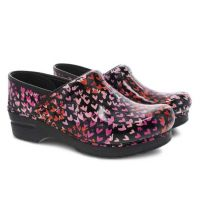 Dansko Tiny Hearts Professional Patent Womens Comfort Clogs 806-580202