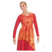 Eurotard Flame of Fire Girls Wrap Front Tunic 80829C **ONLINE ONLY**