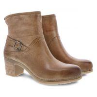 Dansko Tan Distressed Hayley Womens Comfort Boots 9216-150300